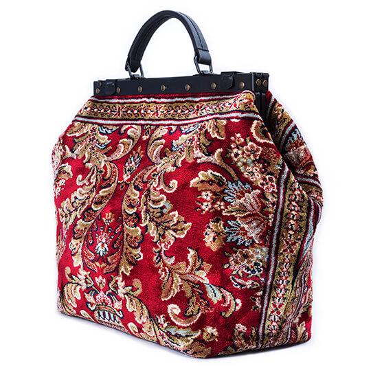 Sac Voyage Blossom Red Victorian Carpet Bag