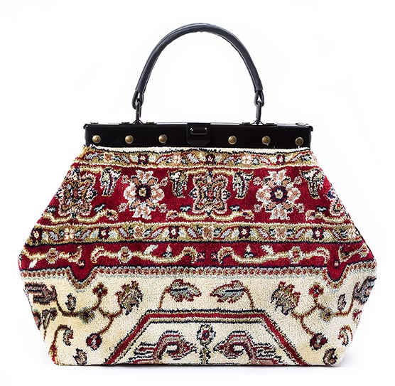 Image of HEIRLOOM Firebird Red Victorian Carpet Bag.