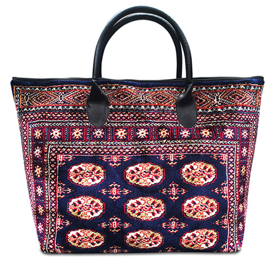 Image of VOYAGER ELITE Bukhara Navy Victorian Carpet Bag.