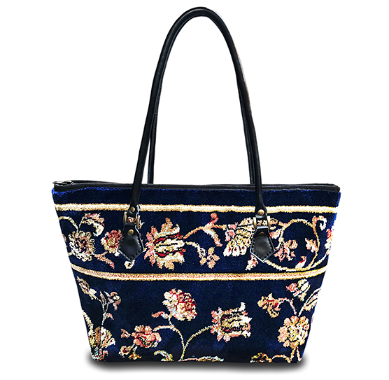 Image of AMENITY Pergola Navy Victorian Carpet Bag.