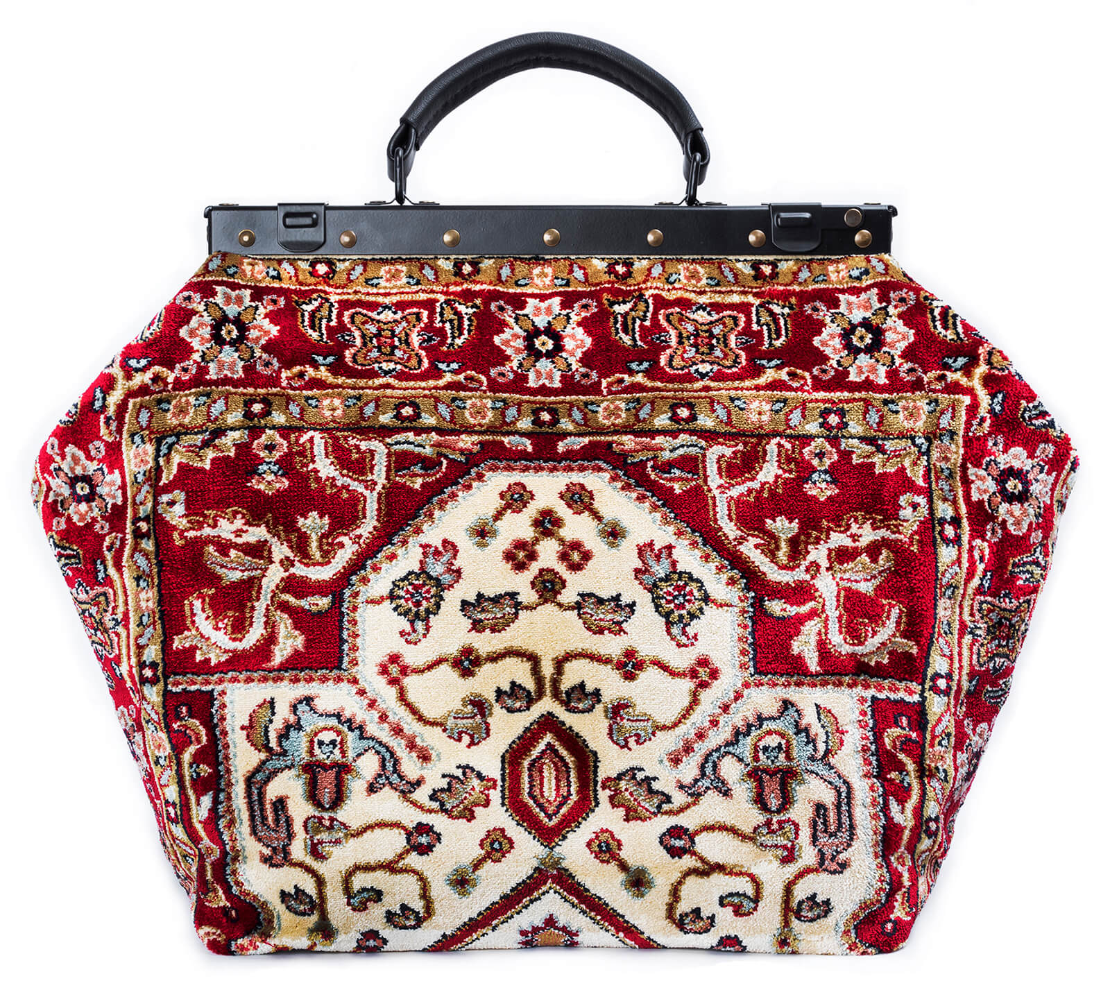 Image of SAC-VOYAGE  Firebird Light Victorian Carpet Bag.