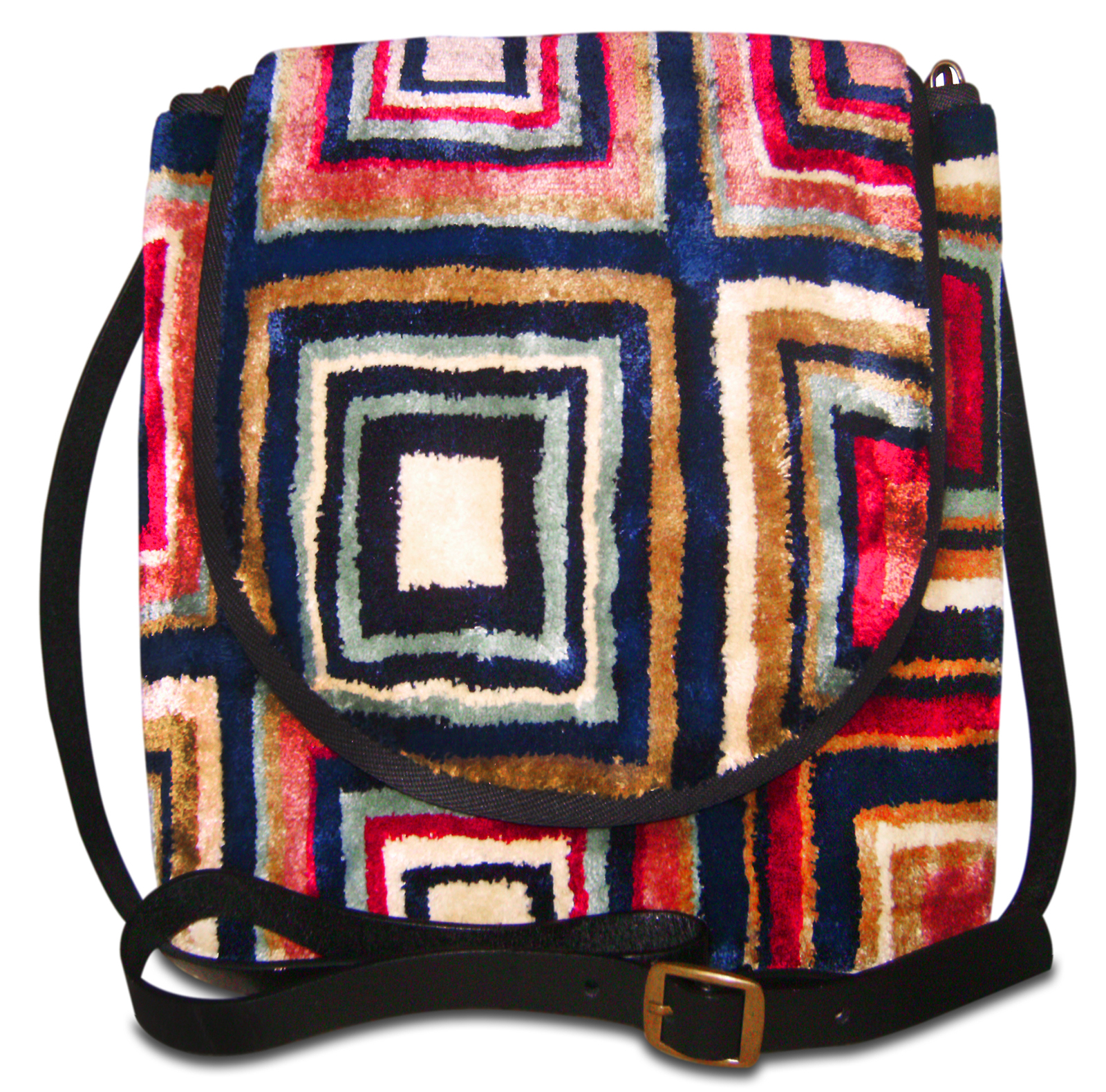 Image of EXPRESS Tetragon Navy Victorian Carpet Bag.