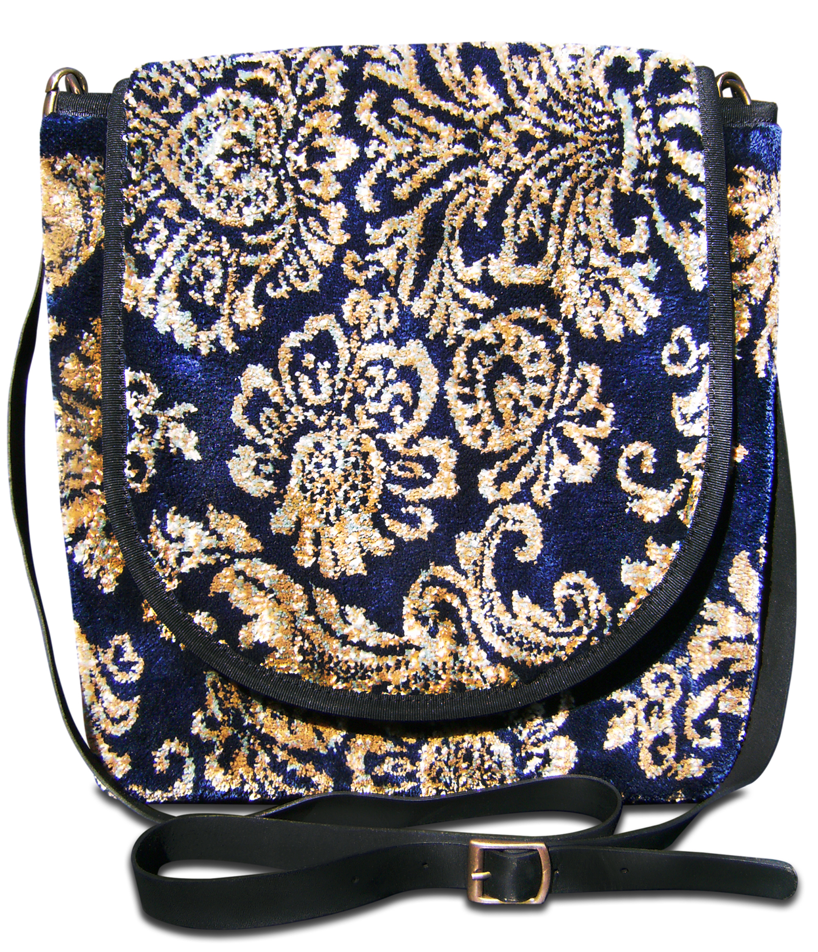 Image of EXPRESS Décor Navy  Victorian Carpet Bag.