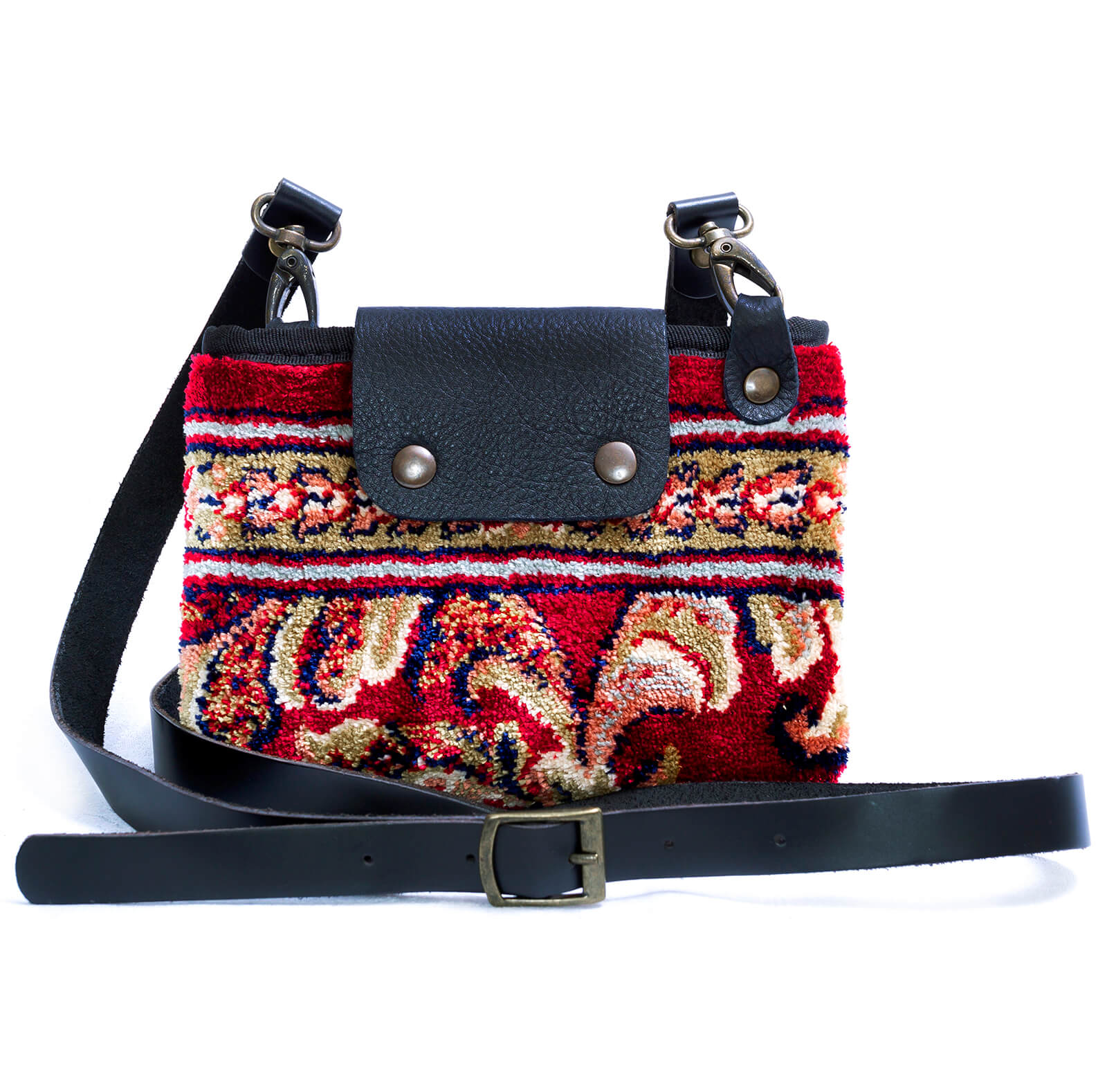Image of MYSTERY Blossom Red Victorian Carpet Bag.