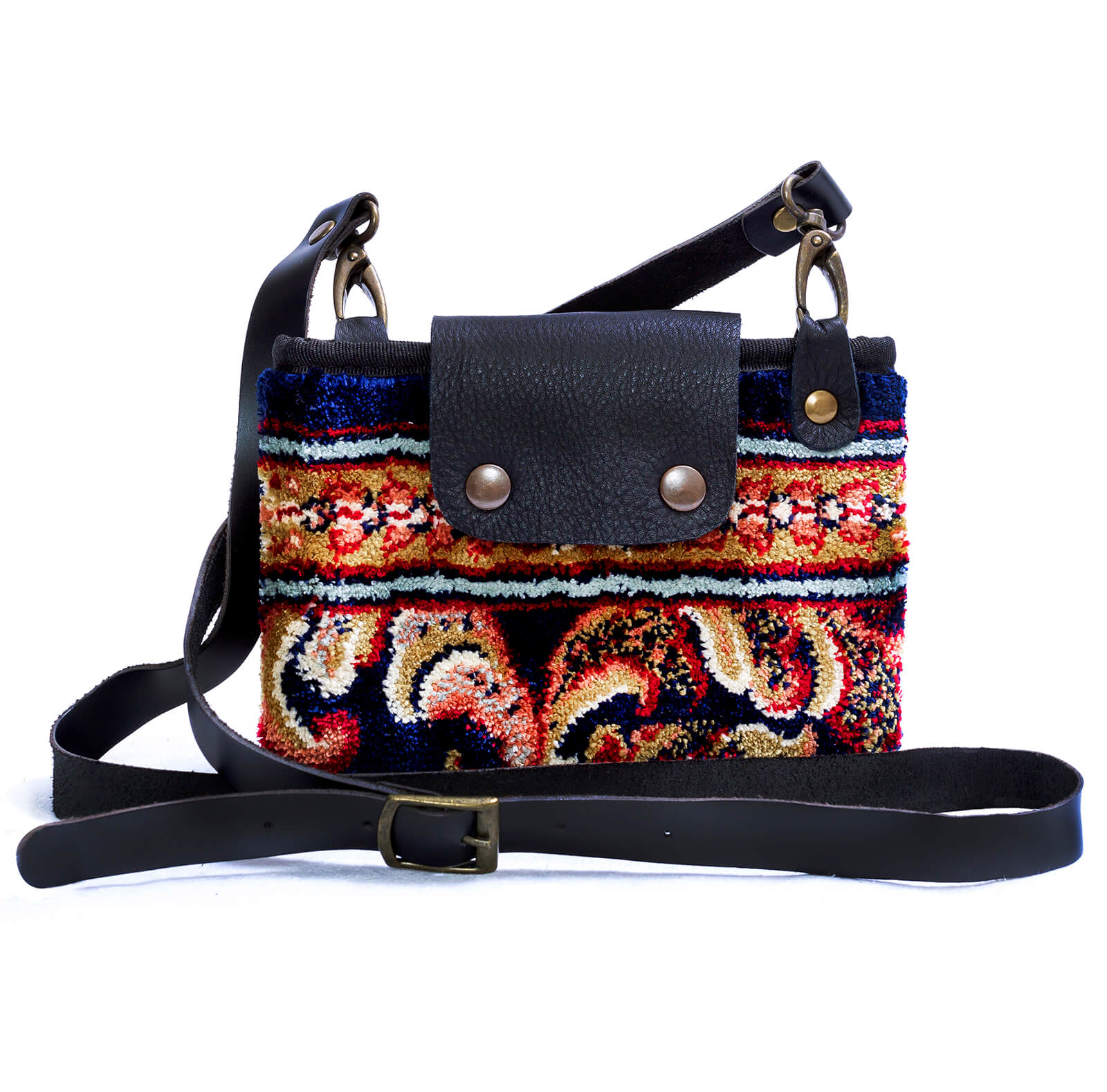Image of MYSTERY Blossom Navy Victorian Carpet Bag.