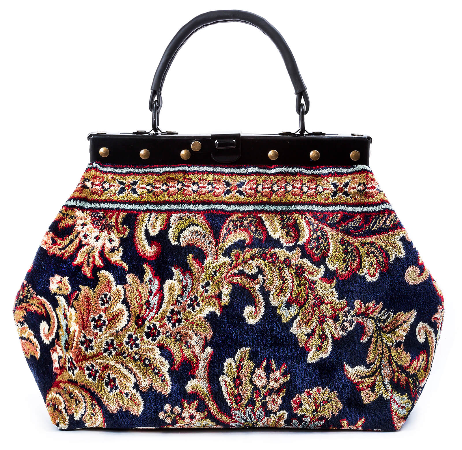 Image of HEIRLOOM Blossom Navy Victorian Carpet Bag.