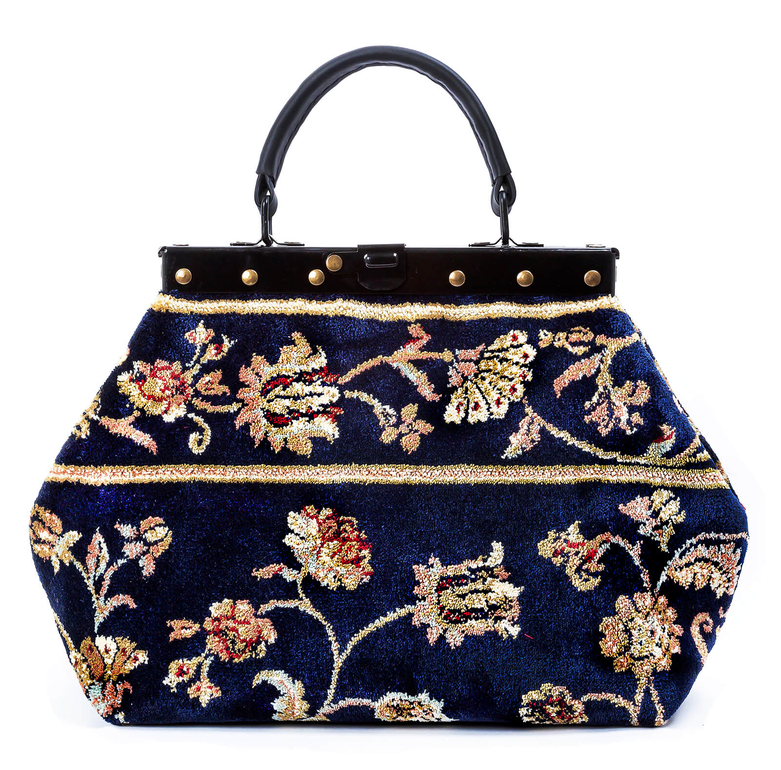 Image of HEIRLOOM Pergola Navy Victorian Carpet Bag.