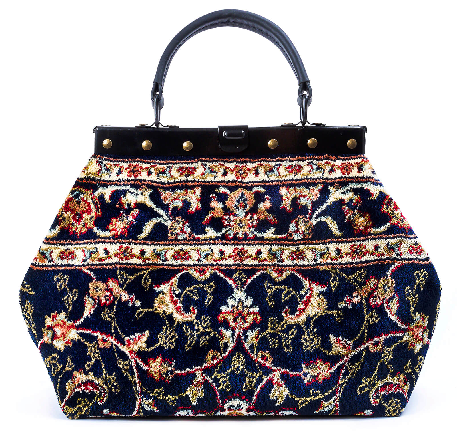 Image of HEIRLOOM Palace Navy Victorian Carpet Bag.